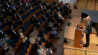 Bundesrat Alain Berset bei seiner Eröffnungsansprache im KKL Luzern.