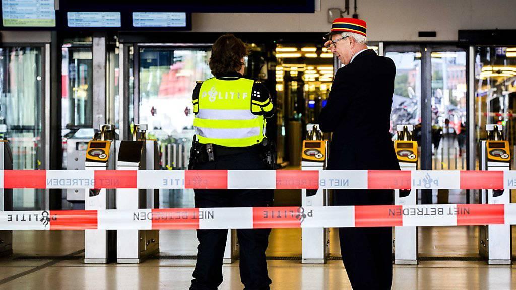 Der Hauptbahnhof von Amsterdam war nach der Messerattacke vorübergehend geschlossen.
