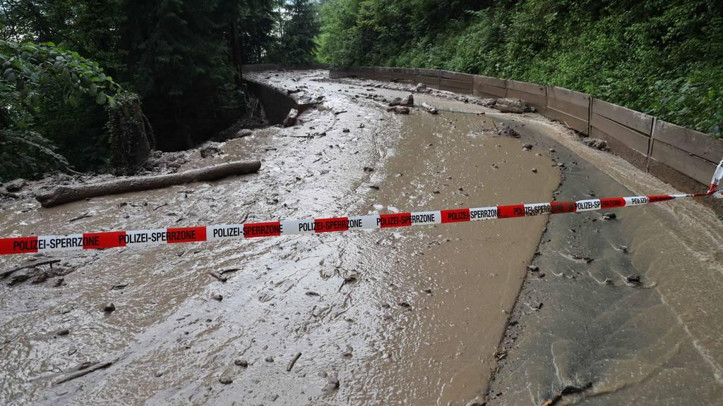 Seither ist die Geissbodenstrasse zwischen der Talstation Schönegg und dem Widishof gesperrt.