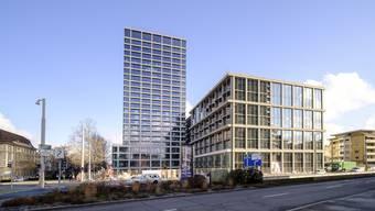 Bereits ein Relikt aus der Blütezeit? Das 5-Sterne-Hotel von Mövenpick im Baloise-Hochhaus soll im Sommer öffnen.