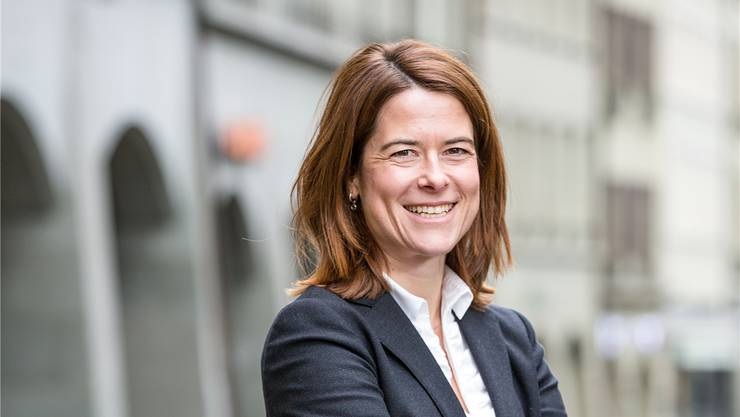 Präsidentin Petra Gössi. SAN