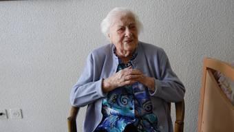 Geburtstagskind: Maria Häfelis Rezept um alt zu werden, ist «brav sein». (Heiner Halder)