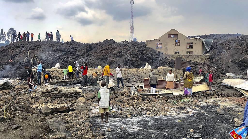 Nach Vulkanausbruch im Kongo: Noch keine Entwarnung