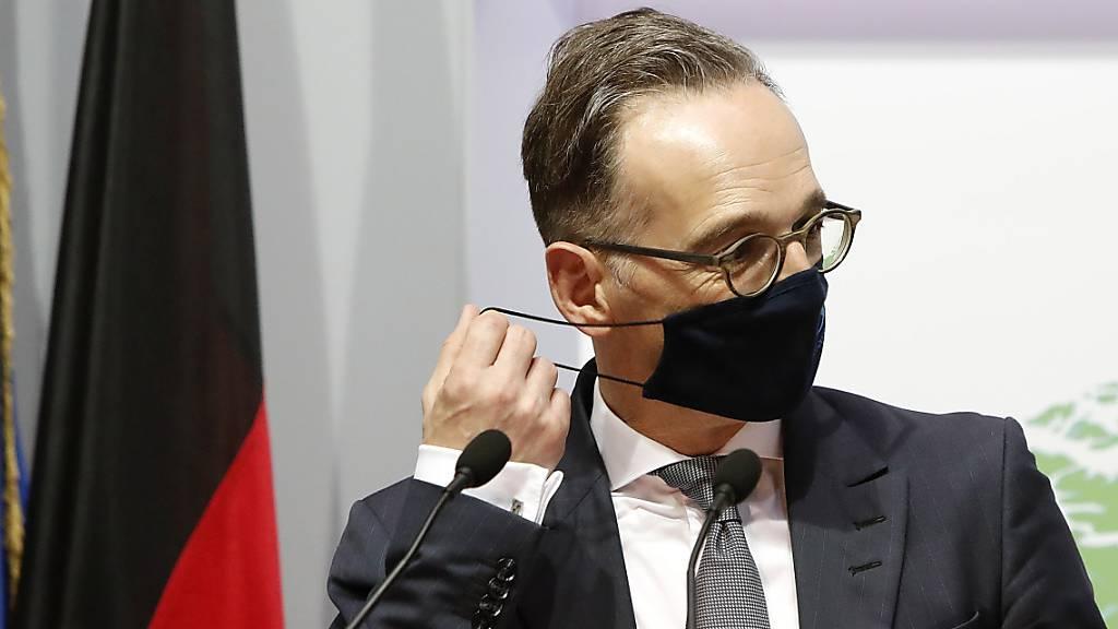 Der deutsche Aussenminister Heiko Maas versichert den Nachbarstaaten Deutschlands, dass die Grenzen trotz verschärfter Massnahmen gegen die Corona-Pandemie offen bleiben. (Archivbild)