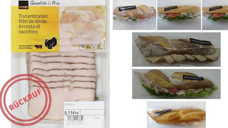 Coop ruft Trutenbraten geschnitten und hausgemachte Sandwiches mit Trutenbraten zurück.