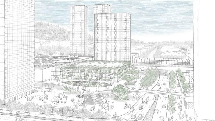 Das neue Quartier würde das Spreitenbacher Ortsbild nachhaltig prägen.