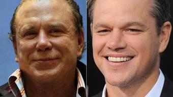 Mickey Rourke und Matt Damon