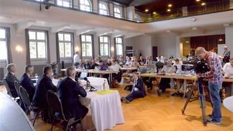 Der Andrang war gross, als die Gesundheitsdirektoren und die Verwaltungsratspräsidenten der Spitäler ins Hotel Hofmatt in Münchenstein luden.