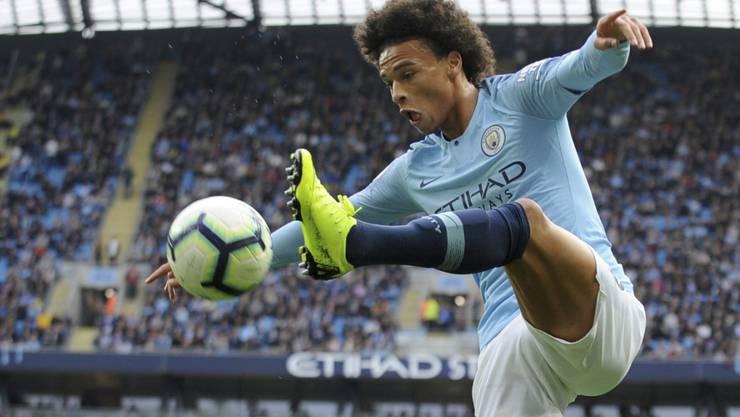 Ein begehrter Mann: der deutsche Internationale Leroy Sané vom englischen Meister Manchester City