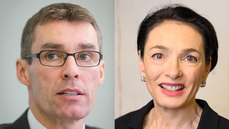 FDP-Präsident Lukas Pfisterer macht seinem Unmut Luft. Eine Verschiebung der Regierungswahlen wollte er jedoch nicht fordern. CVP-Präsidentin Marianne Binder findet man hätte sie verschieben können.