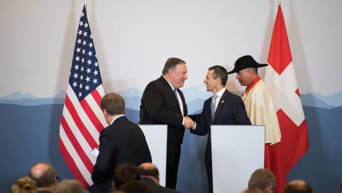 Aussenminister Mike Pompeo, links, und Bundesrat Ignazio Cassis, beim Besuch des Amerikaners im Juni in Bellinzona.