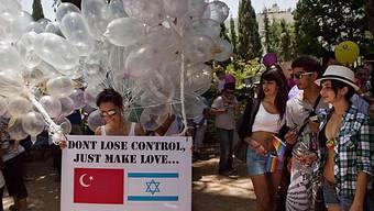 Auch politische Sujets zierten die Parade