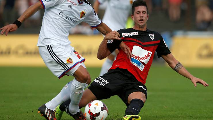 Sandro Wieser war mit seinem Debüt im FCA-Dress nicht zufrieden.