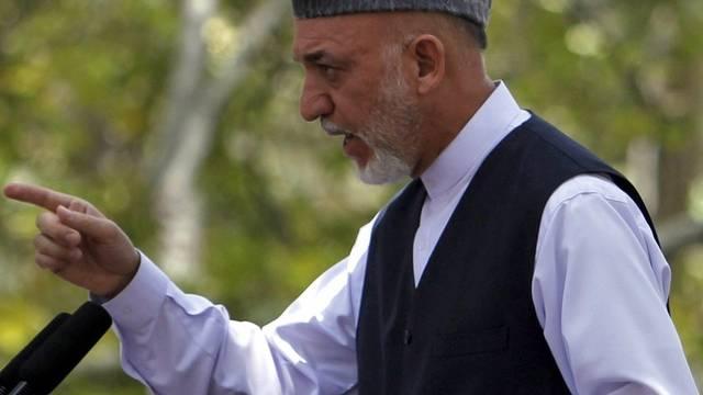 Hamid Karsai sagt, wo's künftig langgehen soll in Afghanistan (Archiv)