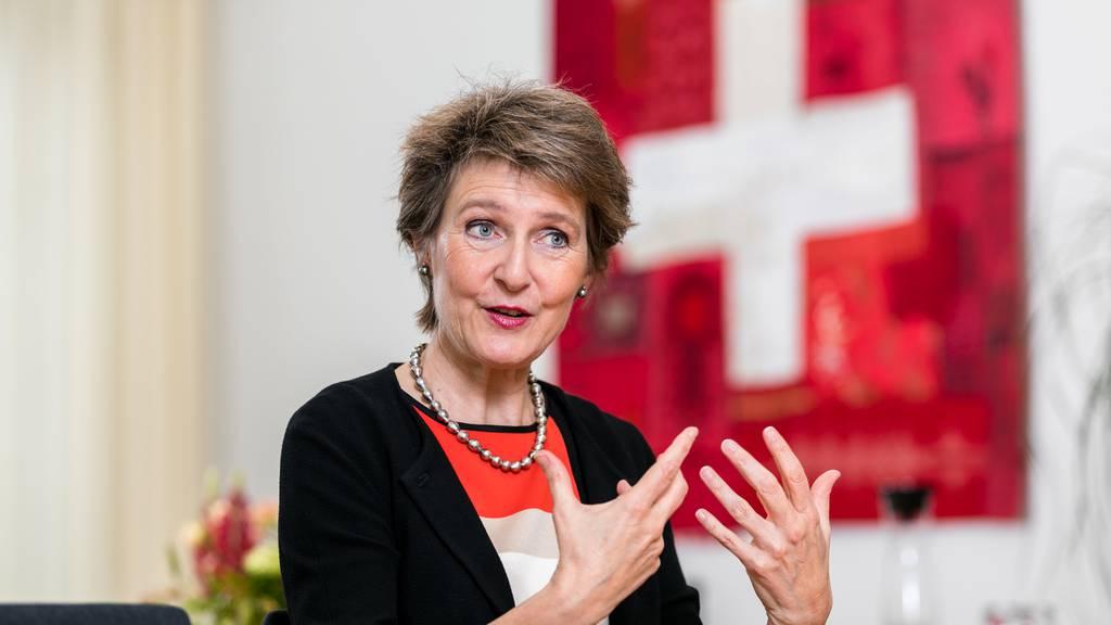 Simonetta Sommaruga sprach sich für ein nachhaltigeres Gesellschaftsmodell aus.
