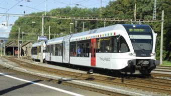 Der Thurbo bei der Einfahrt in den Bahnhof Koblenz: Geht es nach Anhängern der Rheintalbahn, könnte er dereinst von Koblenz in Richtung Basel verkehren.