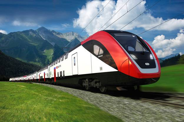 Der neue Bombardier-Doppelstockzug der SBB, der ab 2014 auf dem Netz verkehren wird