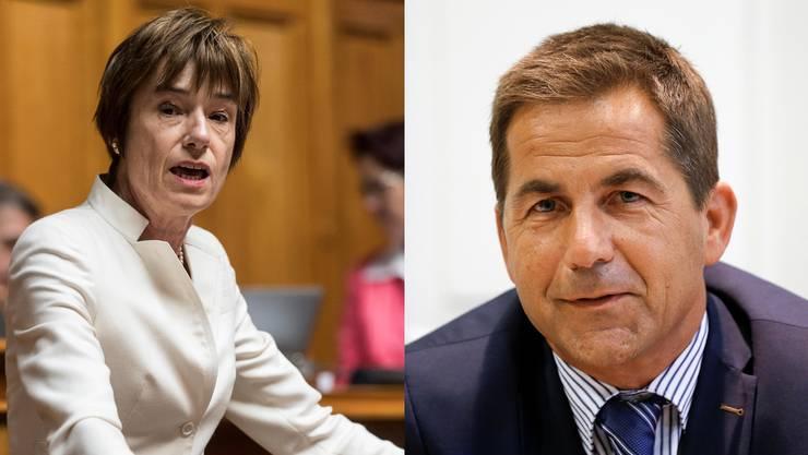 Einer von ihnen könnte einst den Aargau im Bundesrat vertreten. Ruth Humbel und Walter Thurnherr