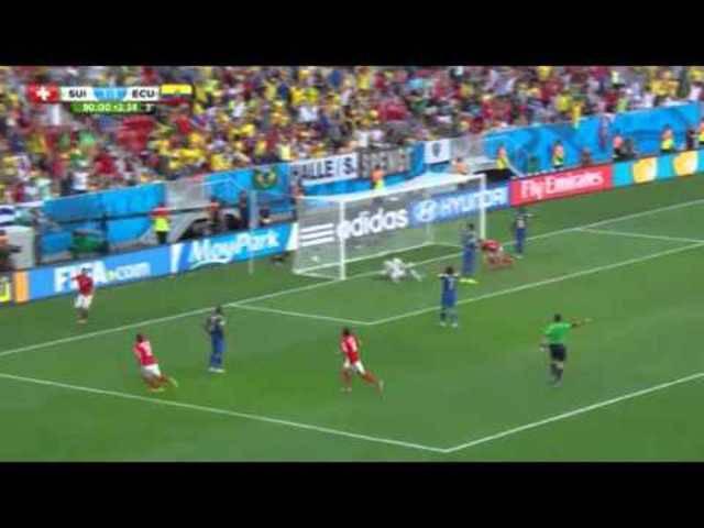 Das 2:1 von Haris Seferovic gegen Ecuador an der WM 2014 in Brasilien – eingeleitet von Valon Behrami