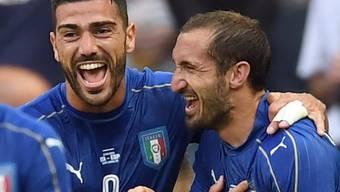 Die beiden Torschützen: Graziano Pellè und Giorgio Chiellini