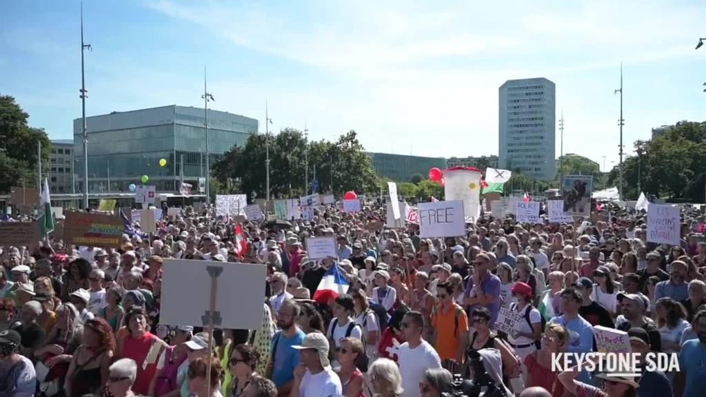 Coronavirus: Rund Tausend Menschen protestieren in Genf gegen Covid-Massnahmen