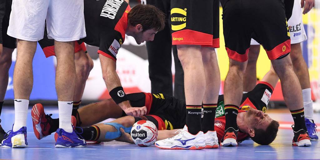 Die Deutschen Handballer an der WM (© Keystone)