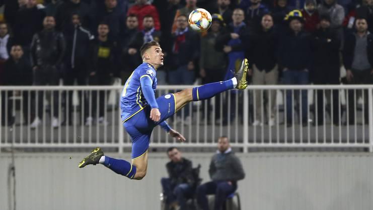 Benjamin Kololli ist stolz, für den Kosovo zu spielen.