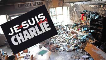 Bild nach dem Bombenanschlag auf die Redaktion von «Charlie Hebdo» vor einem Jahr.