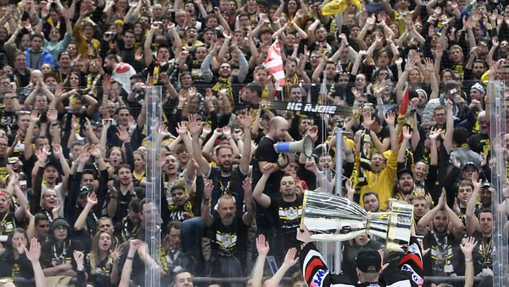 Die Fans von Ajoie sorgten in Lausanne für ein Tollhaus
