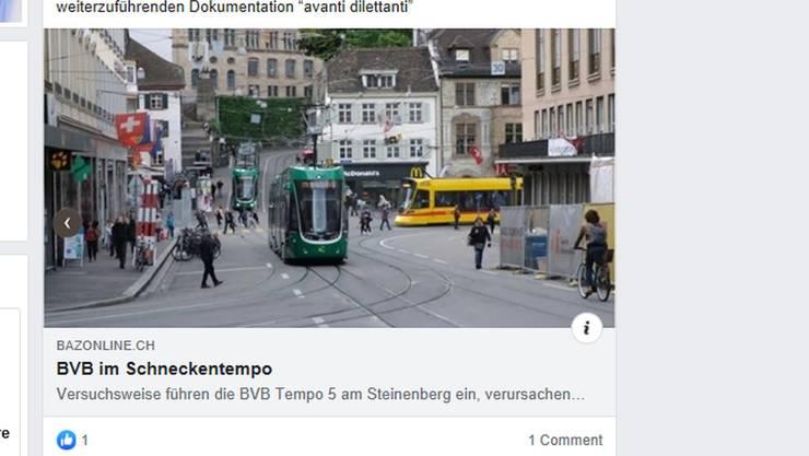 Der Facebook-post von Christian Gautschi.