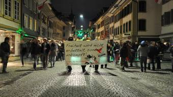 Tanzdemo in Zofingen verlief friedlich