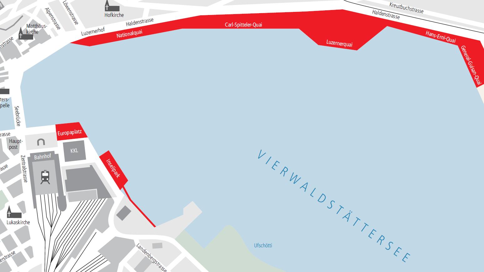 Der Plan mit eingezeichneten gesperrten öffentlichen Räumen, ab Samstag 4. April