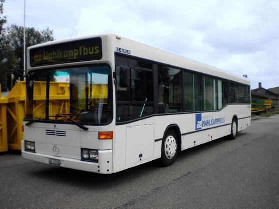 Der neu gestaltete Bus ist bereit.