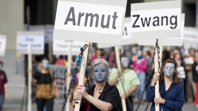 Demonstration gegen Frauenhandel (Symbolbild)