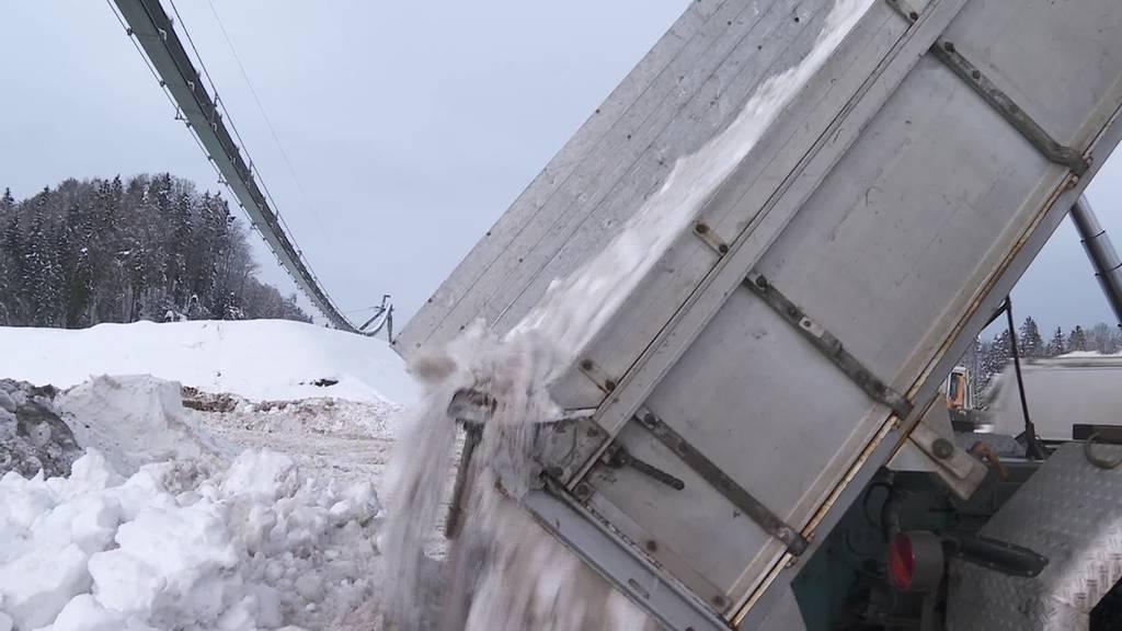 8'000 Tonnen Schnee: Ansturm auf St.Galler Deponie