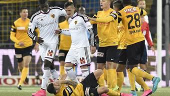 Eine Szene mit Folgen: Taulant Xhaka wird für den Schubser gegen YBs Renato Steffen für vier Spiele gesperrt.