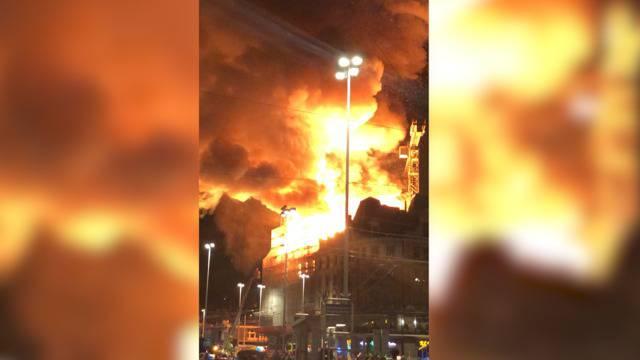Feuer in Zürich: Zuschauervideo zeigt, wie extrem das Geschäftsgebäude brannte