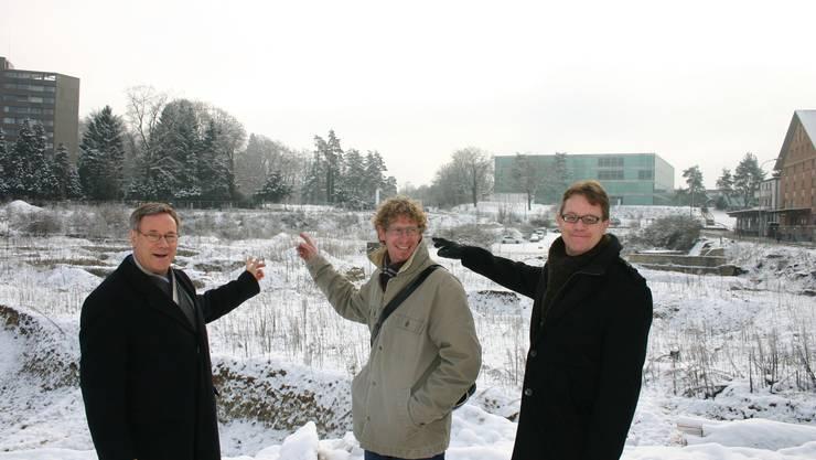 «Wir treten als neutrale Plattform für diesen Anlass auf»: Urs Hänggli, Jürg Baur und Markus Zumsteg von «Region Brugg jetzt» (von links). lp