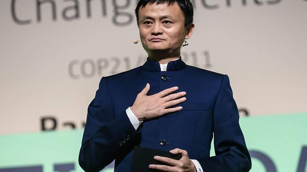 Alibaba-Chef Jack Ma beteiligt sich für 1,25 Milliarden Dollar an einem Essenslieferdienst. (Archivbild)