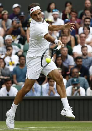 Im dritten Satz besiegt Roger Federer Matteo Berrettini mit 6:2. Insgesamt gewinnt Federer 6:1, 6:2, 6:2.
