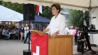 Hoher Gast: An der Bundesfeier in Urdorf sprach Regierungsrätin Silvia Steiner über Schweizer Werte.
