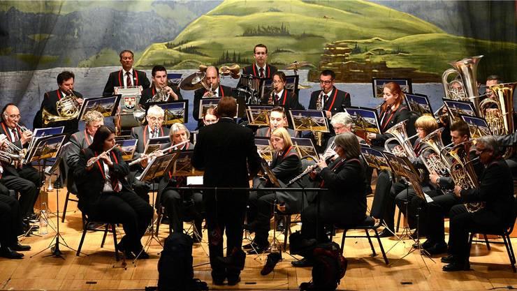 Zum Auftakt des Konzertes spielt die MG Schönenwerd das Stück «Viva Arogno». Markus Müller