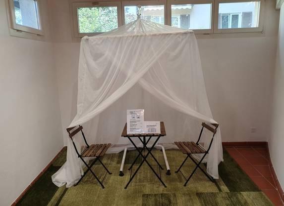 Dieses Netz schützt laut Anbieter nicht nur vor Strahlung, sondern auch vor Stechmücken.