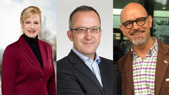 Von links: Isabell Landolfo (CVP), Stephan Läuchli (FDP) und Bruno Nünlist (SVP).