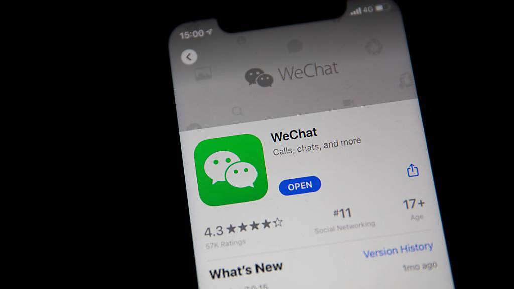 «Last-Minute»-Download der Messenger-App WeChat. (Archivbild)