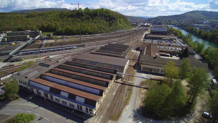Auf dem Areal Bahnhof Nord, das der SBB gehört, sind laut Gestaltungsplan Hochhäuser bis zu 46 Metern oder 13 Geschossen möglich.