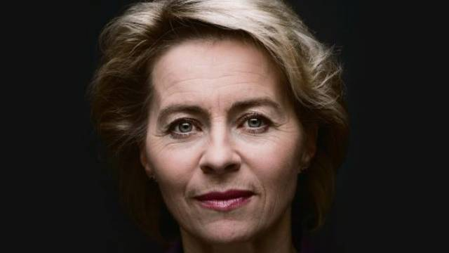 Deutschlands Arbeitsministerin Ursula von der Leyen über Arbeitslosigkeit in Südeuropa und Deutsche in der Schweiz. Foto: Hans Christian Plambeck