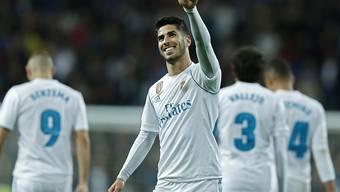 Brachte Real Madrid gegen Las Palmas mit einem prächtigen Weitschuss 2:0 in Front: Marco Asensio
