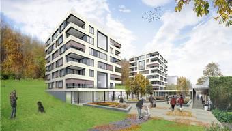 Visualisierung des geplanten Neubaus der Alterswohnungen beim Alterszentrum Kehl.