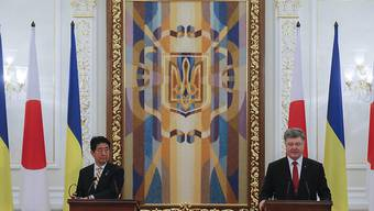 Abe und Poroschenko